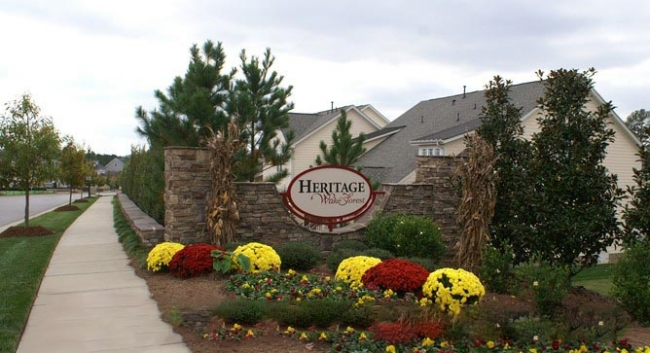 Heritage wake forest community information for Landscaping rocks wake forest nc